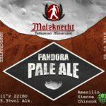 Etikett Pandora Pale Ale