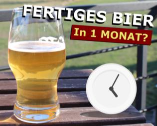 Fertiges Bier in einem Monat