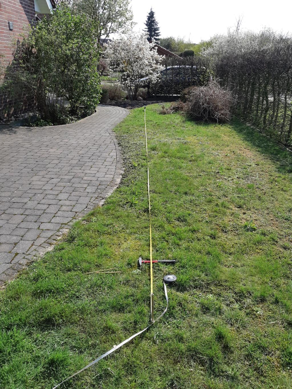 Länge im Garten ausmessen