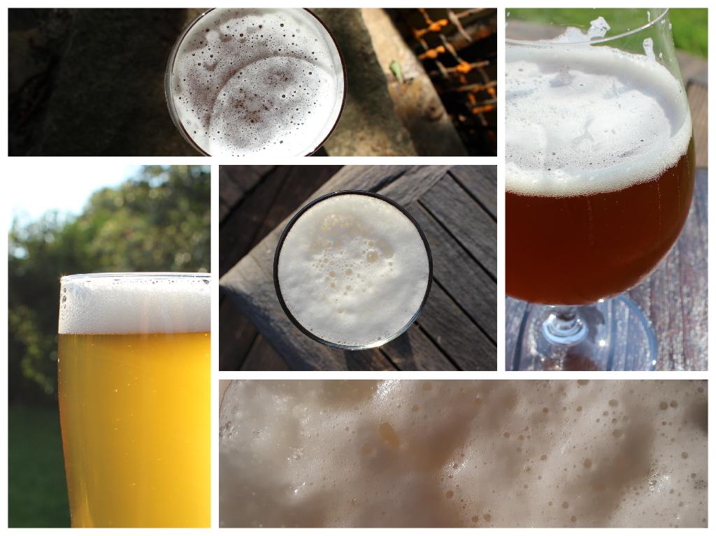 Mosaik Foto aller Biere die zwangskarbonisiert wurden