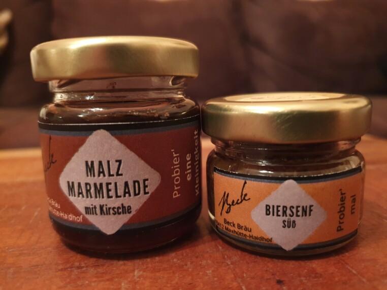 Beck Bräu Malzmarmelade und Biersenf