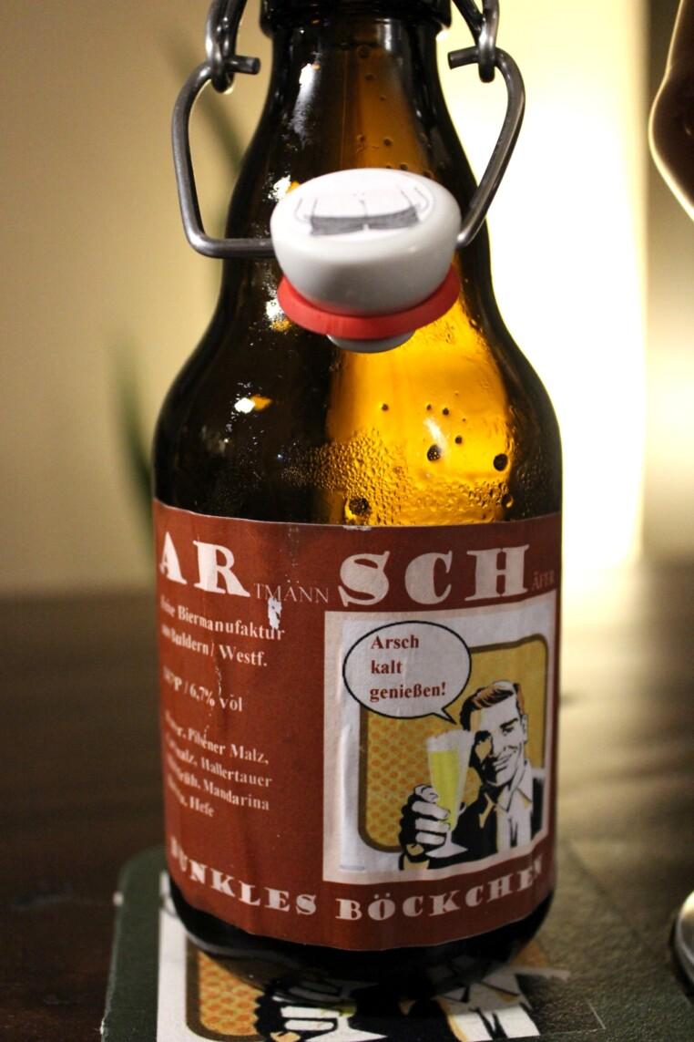 Böckchen Flasche Etikett