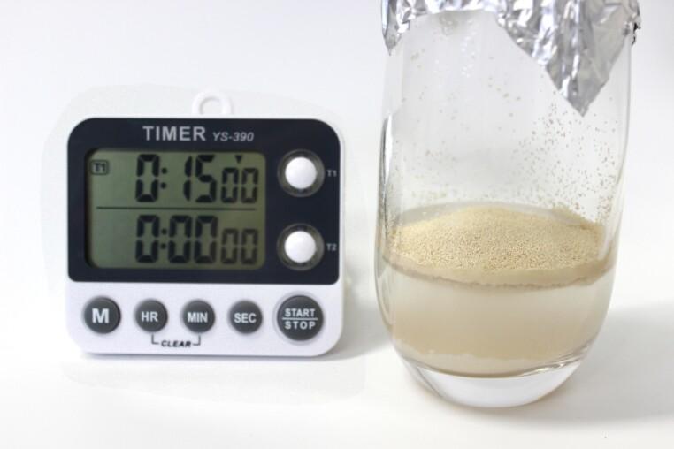 Trockenhefe rehydrieren 15 Minuten warten